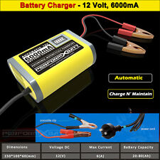 12V 6A Automatic Battery Trickle Charger Motorcycle Car Truck Boat Caravan Mower