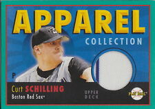 CURT SCHILLING GAME USED DIAMONDBACKS JERSEY UPPER DECK MLB TRADING CARD RED SOX