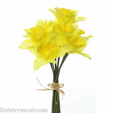 Artificial Daffodils 9 Stem Bunch 33cm/13 Inches Yellow Spring Flower