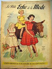 LE PETIT ECHO DE LA MODE 1950 n° 22,  mini patron, chapeaux, broderie, tricot