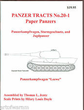 Panzer Tracts 20-1 (Paper Panzers)   German AFV book   by Jentz & Doyle