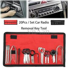 20pcs Pro Car Radio Head Unit Audio Stereo CD Player Removal Key Tool Kit Set