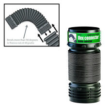 FLEX-Drain 57010 Flexible Elbow Corrugated Landscaping Pipe Connector