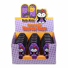 Hello Kitty Sour Cherry Vampire Bats Candy in Embossed Metal Coffin Tin, SEALED