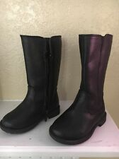 Childrens Place Toddler Girls Size 5 Black Zip Up Boots