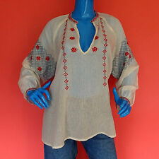 Ralph Lauren Denim & Supply Embroidered Tunic Top Blouse L 12 14 16 Peasant Boho
