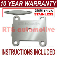 VAUXHALL OPEL VECTRA ZAFIRA SIGNUM ASTRA EGR VALVE BLANK PLATE 3MM STAINLESS HZ