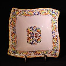 "Beautiful Italian Meridian Ceramiche Italy 5 5/8"" Square Bowl - FREE SHIPPING!"