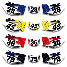 Custom Number Plate Background Decals For YAMAHA WR250F WR450F 07 08 09 10 11