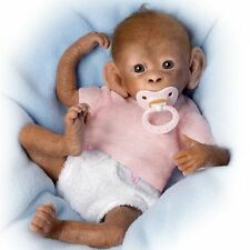 Coco 16'' So Truly Real Baby Monkey Doll with Pacifier by Ashton Drake NRFB
