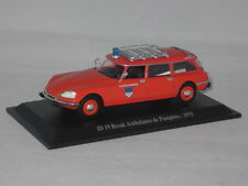 CITROEN ID 19  BREAK AMBULANCE DE POMPIERS 1975