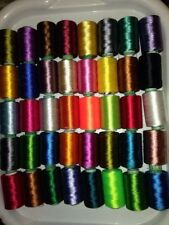 40 Machine Embroidery Thread Spools. Art Silk, Rayon For Janome,Brother Machines