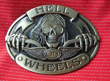 HELL ON WHEELS CHOPPER BIKE BIKER EASY RIDER MOTORCYCLE MOTORBIKE BELT BUCKLE
