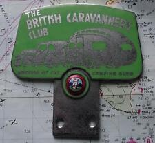 Vintage GAUNT Mascot Badge with Art Deco Caravan Car  BRITISH CARAVANNERS CLUB B