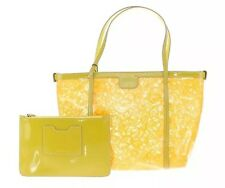 DOLCE & GABBANA Women Bag Yellow Leather Lace Clutch Shopping MISS ESCAPE NEW
