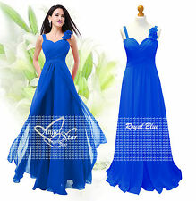New Formal A-Line/Princess Full-Length Sleeveless Chiffon Bridesmaid Dress 6-24