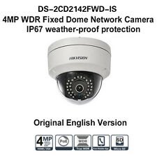 Hikvision DS-2CD2142FWD-IS 4MP WDR POE Mini Dome CCTV IR IP Kamera Outdoor 4mm