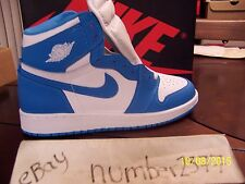 NEW 2015 retro Nike Air Jordan 1 High OG UNC Carolina Blue size 6 Y