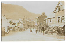 Coniston Animated Street Scene Yewdale Rd RP PPC, Frith, Coaches Outside Cafe