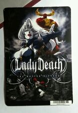 LADY DEATH LADYDEATH MOTION PICTURE  MINI POSTER BACKER CARD (NOT a movie )