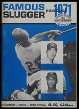 Famous Slugger Yearbook 1971 - Johnny Bench & Alex Johnson on the Cover