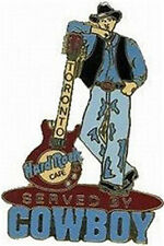 Hard Rock Cafe TORONTO 2000 Served by COWBOY Red Guitar PIN