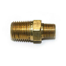 "1/8"" x 1/4"" NPT machined Male Brass Hex Nipple Reducer pipe fitting FA214"