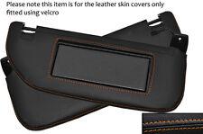 Orange stitch 2x pare-soleil peau cuir couvre fits CITROEN DS3 2009-2014