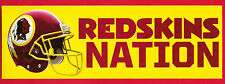 "Washington Redskins Bumper Sticker NFL - ""Redskins Nation"""