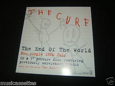 "THE CURE THE END OF THE WORLD POSTER FLAT 12"" X 12"" SIZE"