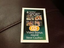 Steve Cauthen / Horse racing / A Question of Sport game card / 1999