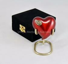 Regal Cherry & Ornate Gold Keepsake Heart Cremation Memorial Urn + Case + Stand