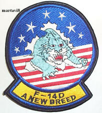 US.Navy `F-14D NEW BREED` Tomcat Cloth Badge / Patch (F14-33)