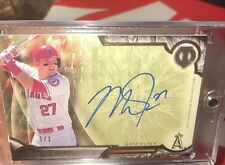 2016 Topps Tribute Mike Trout 1/1 Superfractor On Card Beautiful Auto True 1/1 !