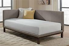 Dorel Home Products 4058439 Mid Century Upholstered Modern Daybed,Grey Linen NEW