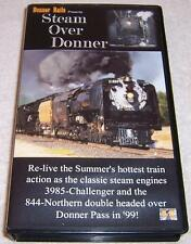 Steam Over Donner VHS Video train railroad 3985 Challenger 844 Northern Double