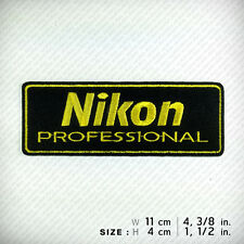 new NIKON EMBROIDERED PATCH IRON ON or SEW , Professional Camera Photographer