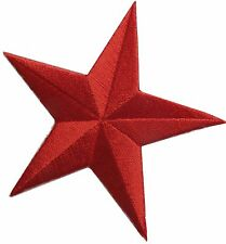 "3"" Embroidery Iron On Red Star Applique Patch"
