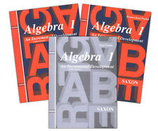 Saxon Algebra 1 3rd Edition Home Study Kit Homeschool - Grade 9 - NEW!