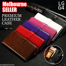 Ultra Slim Premium Business Flip Leather Wallet Case Cover for LG G4