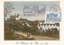 Carte 1er Jour PAU 15/05/1982 gravure château henri IV timbrée