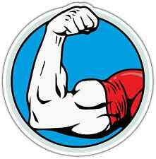 "Arm Wrestling Biceps Strong Arms Car Bumper Vinyl Sticker Decal 4.6""X4.6"""