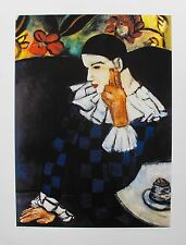 Pablo Picasso HARLEQUIN LEANING Estate Signed Limited Edition Giclee