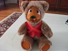 FTD collectible teddy bear with wood face and paws