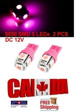 2pcs 5SMD Pink Purple LED T10 194 158 168 912 Map Dome License Plate Light Bulb