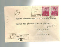 1943 Sanpetru-Nou Romania Jewish Labor Camp Cover to Red Cross Switzerland