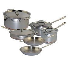 All-Clad Copper-Core 10 Piece Cookware Set 18/10 Stainless Steel Kitchen 600822