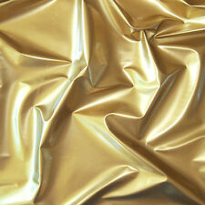 Shiny High Glossy PVC Vinyl Pleather Gothic Fetish Cat Suit Waterproof Gold 44'w