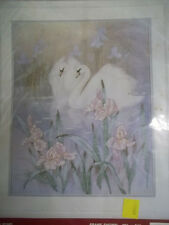 Cross Stitch SWANS in IRIS POND Kit Needle Treasures Countless NIP T.C. Chiu