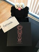 "KAWS BLACK BFF 20"" PLUSH COMPANION Doll 100% Authentic 2016"